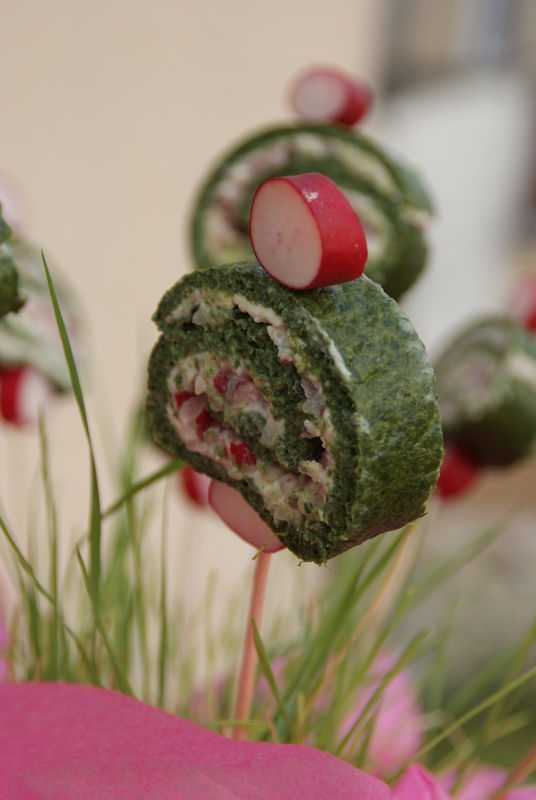 Roulade aux radis roses