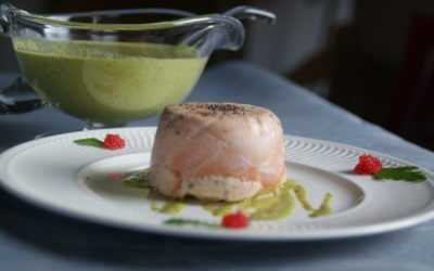 Charlottes aux 3 poissons sauce verte