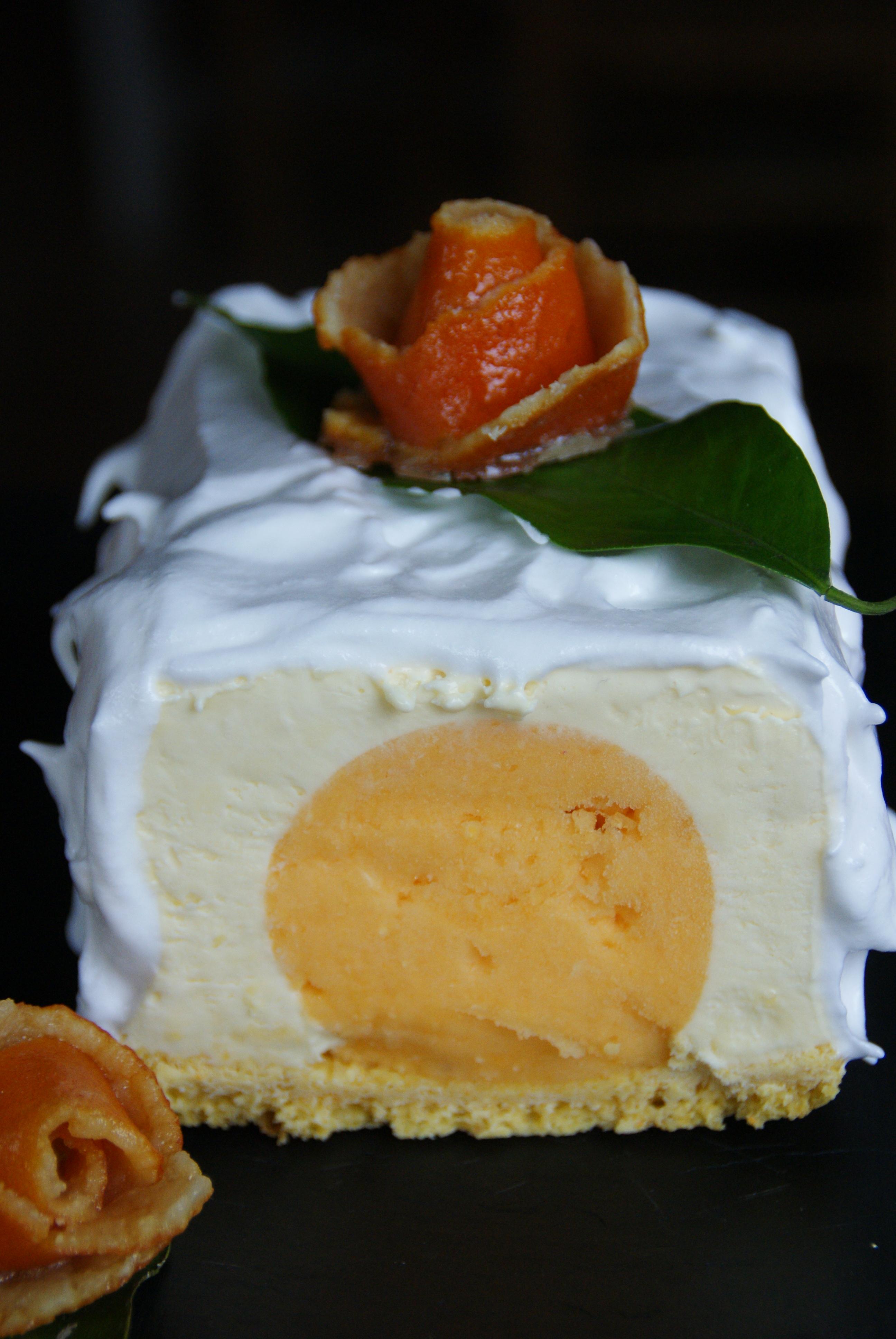Buche de noel glacee a la mandarine