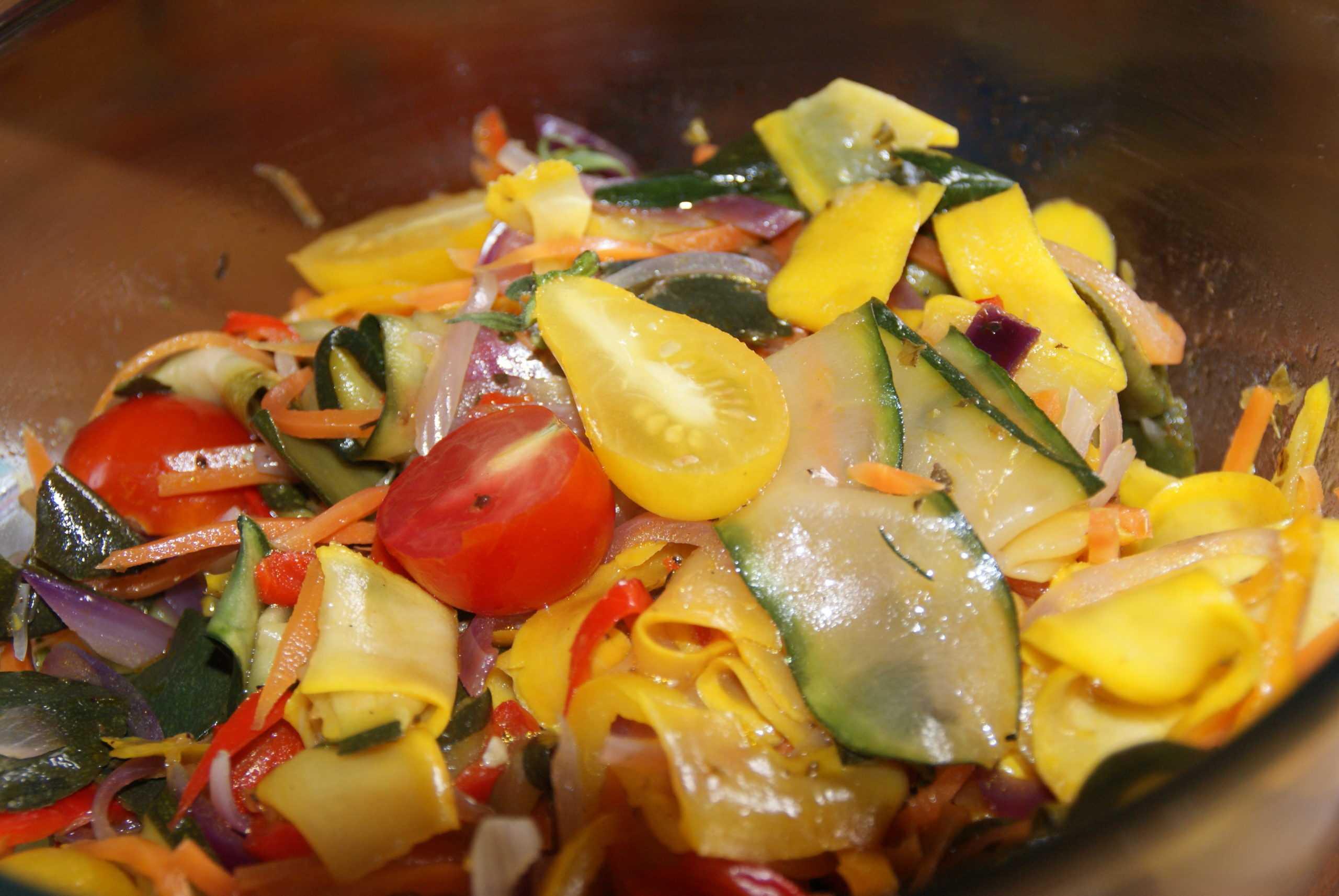 Marinade de légumes d'été
