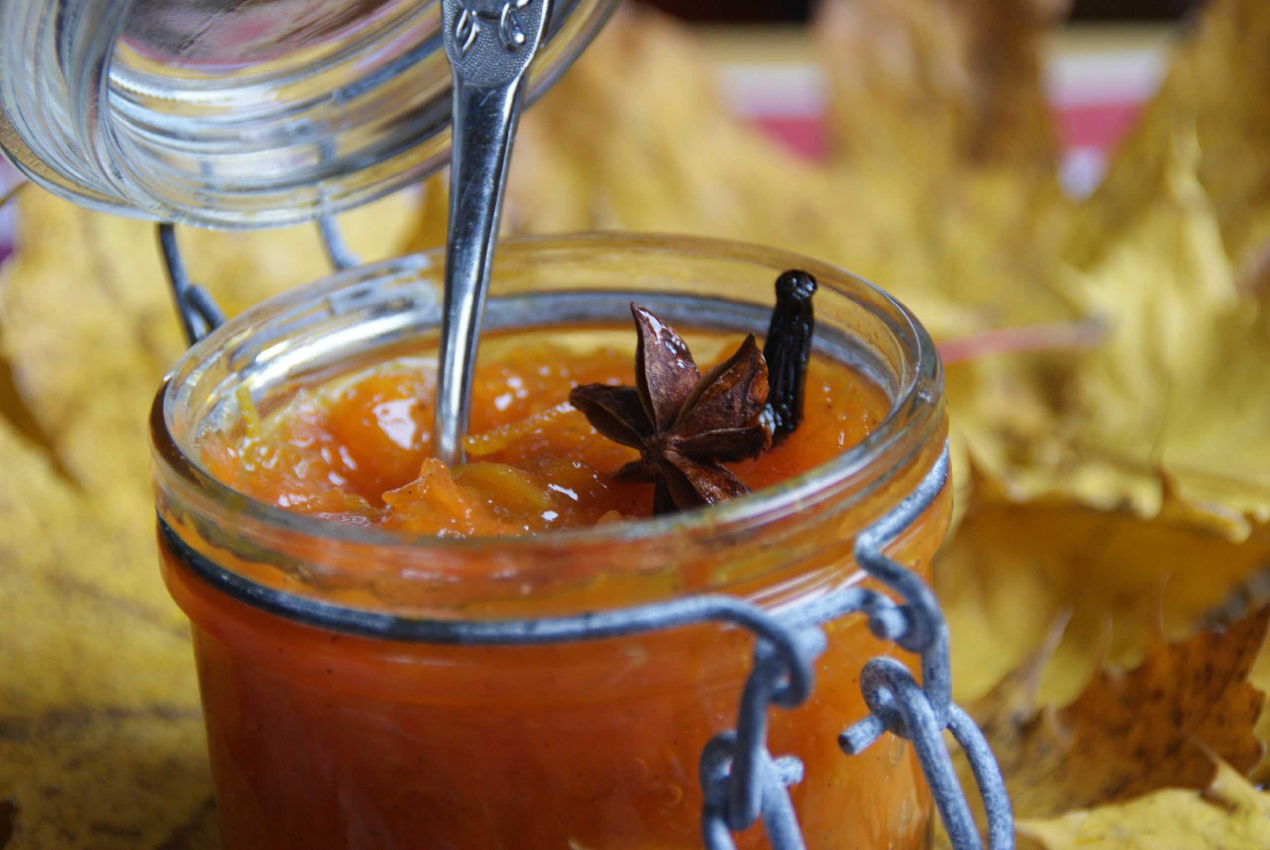 Confiture de Potiron à l'orange et aux Epices